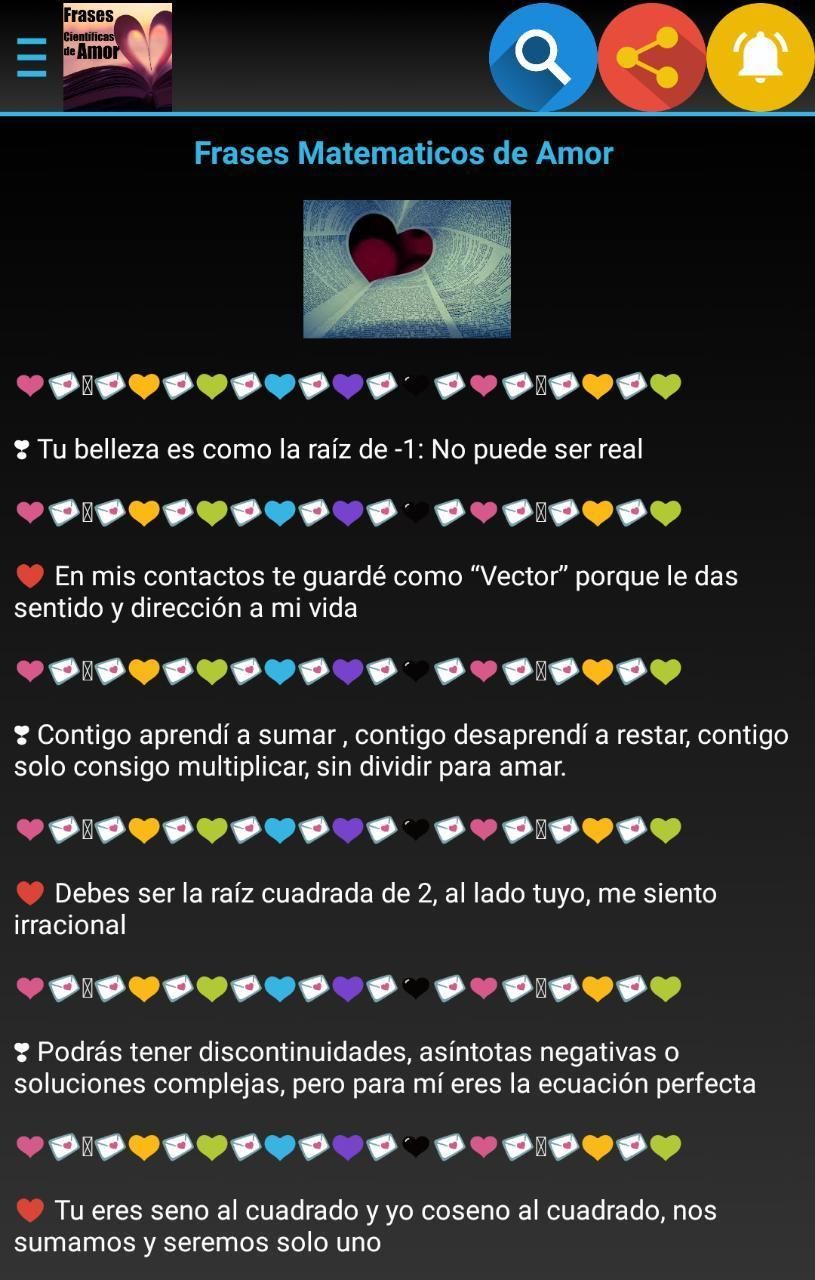 Frases Científicas De Amor For Android Apk Download
