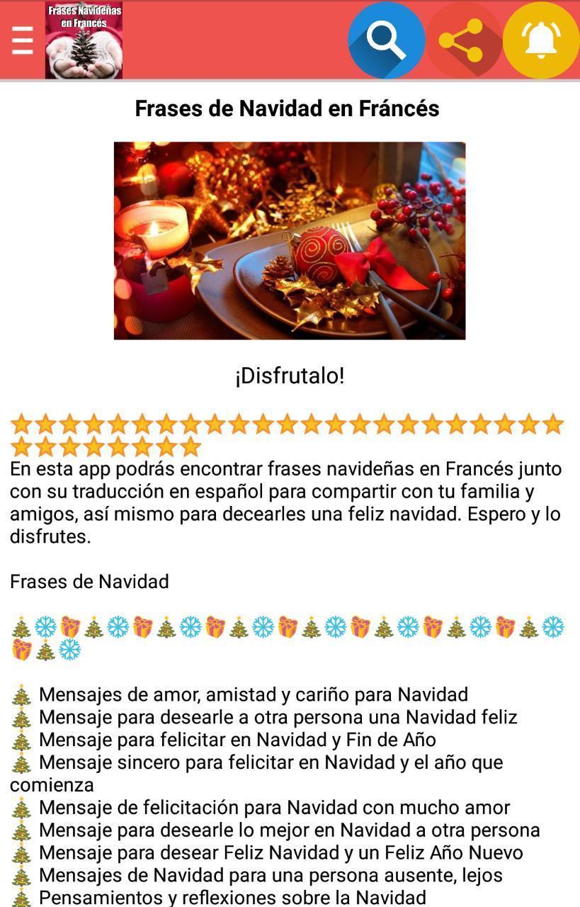 Frases Navideñas En Francés For Android Apk Download