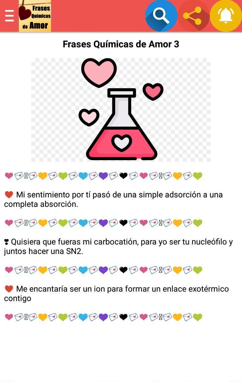 Frases Químicas De Amor For Android Apk Download