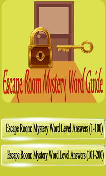 Escape Room Mystery Word Guide :Answers All levels poster