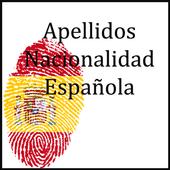 Apellidos nacionalidad española icon