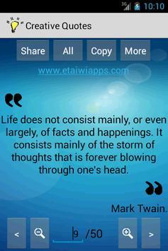 Creative Quotes & Sayings screenshot 1