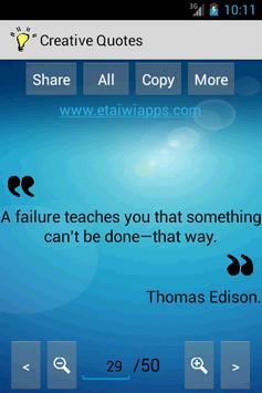 Creative Quotes & Sayings screenshot 3