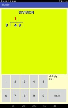 Multi-digit division screenshot 1