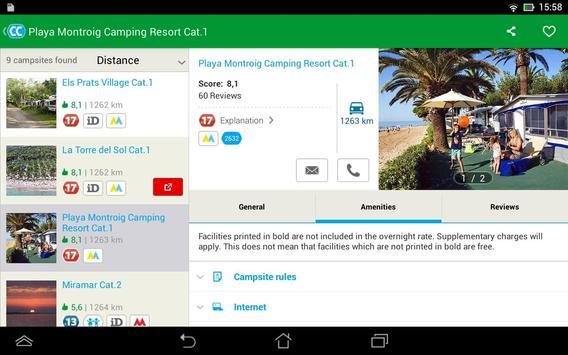 CampingCard ACSI screenshot 14