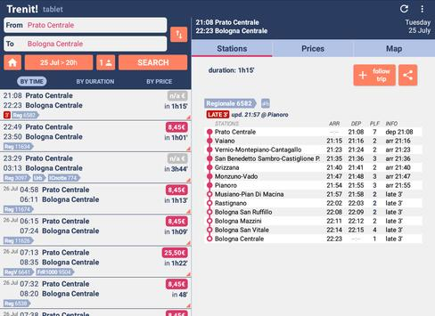 12 Schermata Orari Treni + Ritardi + Prezzi Alta Velocità