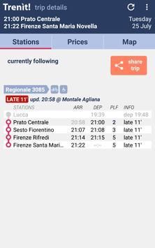 4 Schermata Orari Treni + Ritardi + Prezzi Alta Velocità