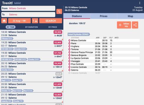 5 Schermata Orari Treni + Ritardi + Prezzi Alta Velocità