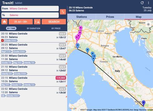بحث عن القطارات في إيطاليا تصوير الشاشة 7