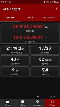 GPS Logger captura de pantalla 1