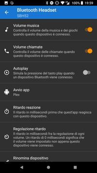 1 Schermata Bluetooth Volume Manager