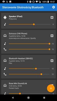 Menadżer głośności Bluetooth plakat