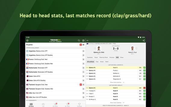 Tennis 24 - tennis live scores screenshot 7