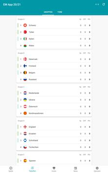 Fußball EM App 2020 in 2021 Spielplan & Ergebnisse Screenshot 9