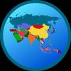 Mapa Azji ikona