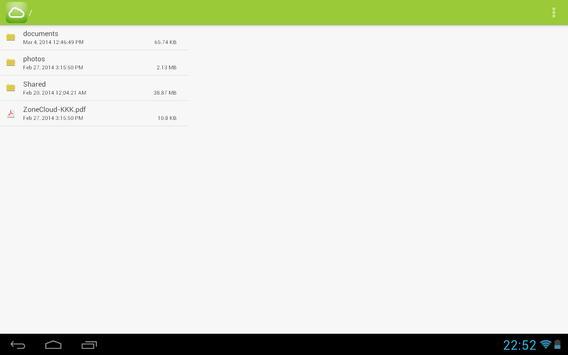 ZoneCloud screenshot 1