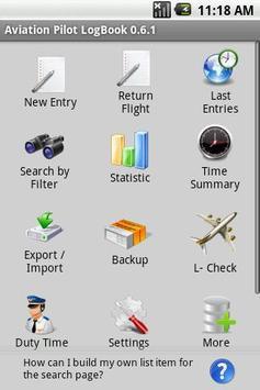 Aviation Pilot LogBook 포스터