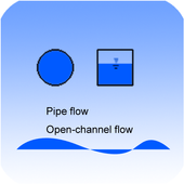 civil water flow calculator icon