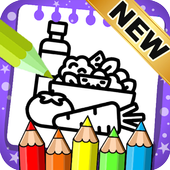 Food Coloring Pages: Fruits and Vegetables Images icon