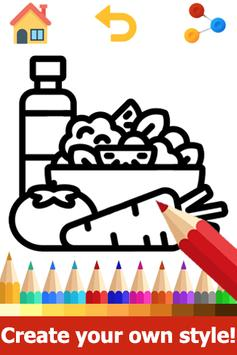 Food Coloring Pages: Fruits and Vegetables Images poster