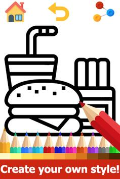 Food Coloring Pages: Fruits and Vegetables Images screenshot 1