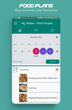 Food recipes, make your food plans screenshot 2