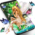 Forest fairy magical night live wallpaper