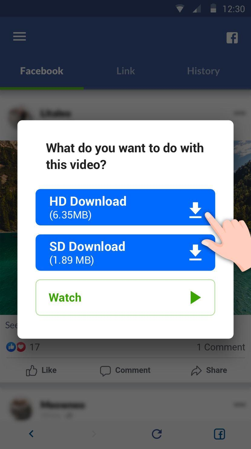 Video Downloader For Facebook Video Downloader For Android Apk Download Unfortunately, facebook removed the workarounds to download live videos in 2016. video downloader for facebook video