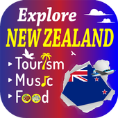 New Zealand – Top Music Food Tourism Fact Hotel icon