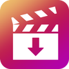 Gratis downloader voor video-icoon