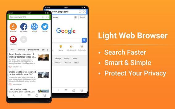 वेब ब्राउज़र - तेज़, निजी और समाचार स्क्रीनशॉट 8