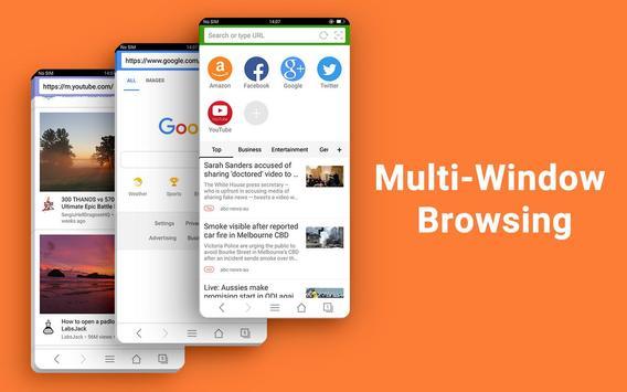 वेब ब्राउज़र - तेज़, निजी और समाचार स्क्रीनशॉट 16