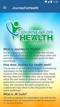Journey for Health screenshot 1