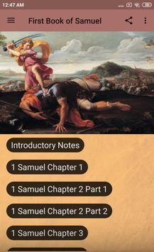 BOOK OF 1 SAMUEL - BIBLE STUDY poster