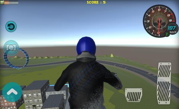 Flying Bike Rider 2017 3D screenshot 5