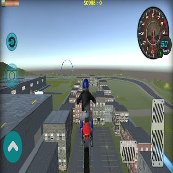 Flying Bike Rider 2017 3D screenshot 8