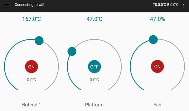 Flasty Droid  - контрольная панель для 3D Принтера screenshot 1