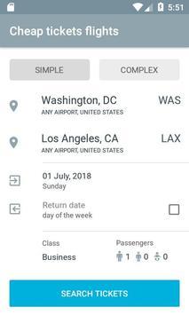 Flight ticket price list poster