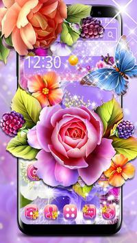 Colorful Shiny Flower Theme screenshot 1