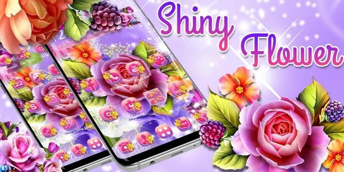 Colorful Shiny Flower Theme screenshot 3