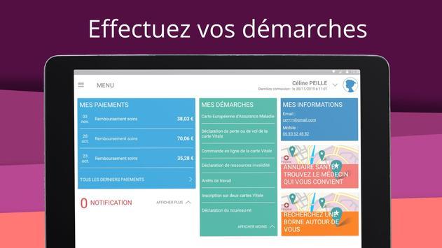 ameli, l'Assurance Maladie Ekran Görüntüsü 10