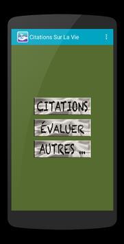 Citations Vie poster