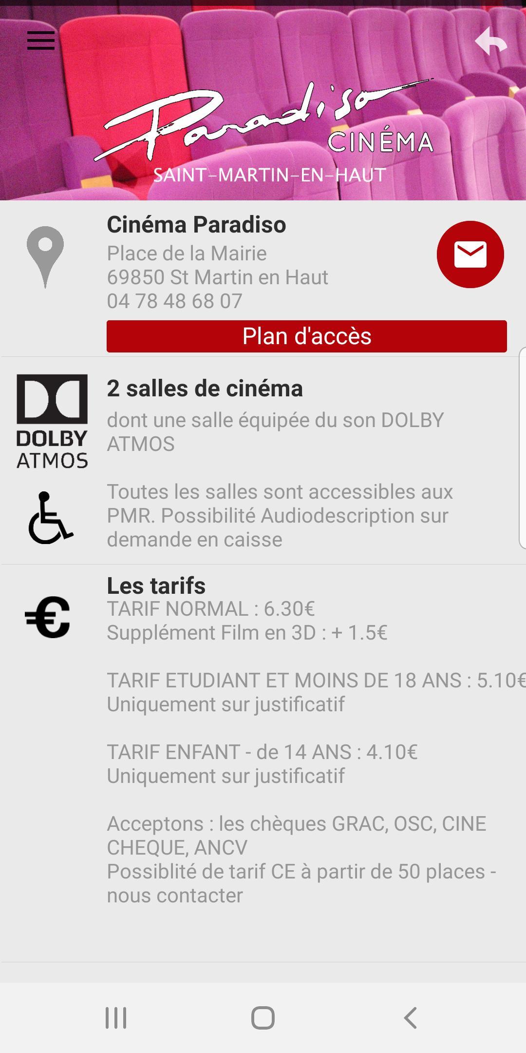 Cinéma Paradiso - Saint Martin en Haut for Android - APK Download