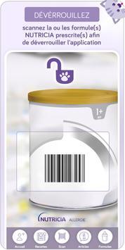 Allergie-Lait App' poster