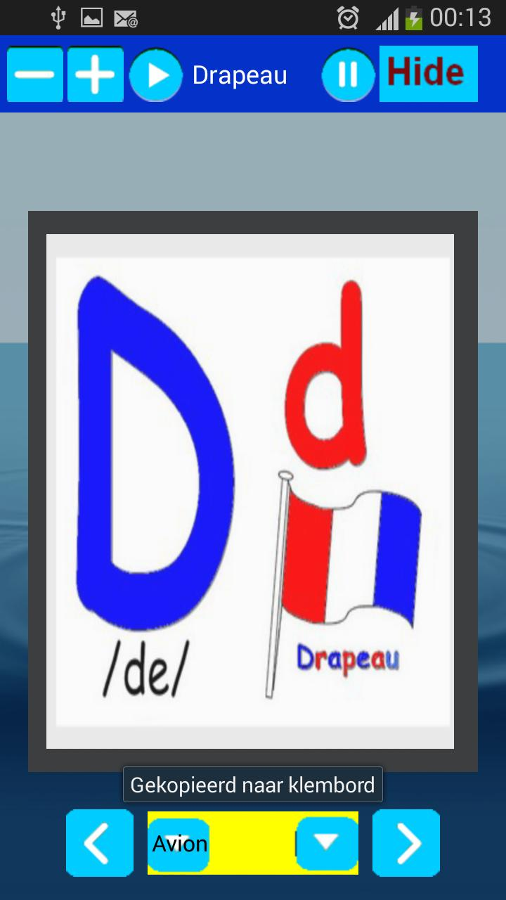 English French Dutch Spanish and Arabic Alphabet for Android
