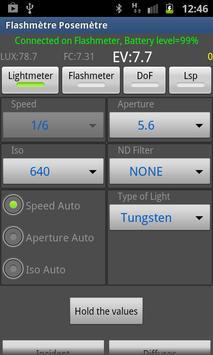 Flashimetro y Fotómetro captura de pantalla 1