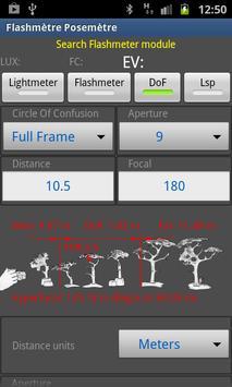 Flashimetro y Fotómetro captura de pantalla 3