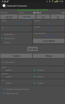 Flashimetro y Fotómetro captura de pantalla 8