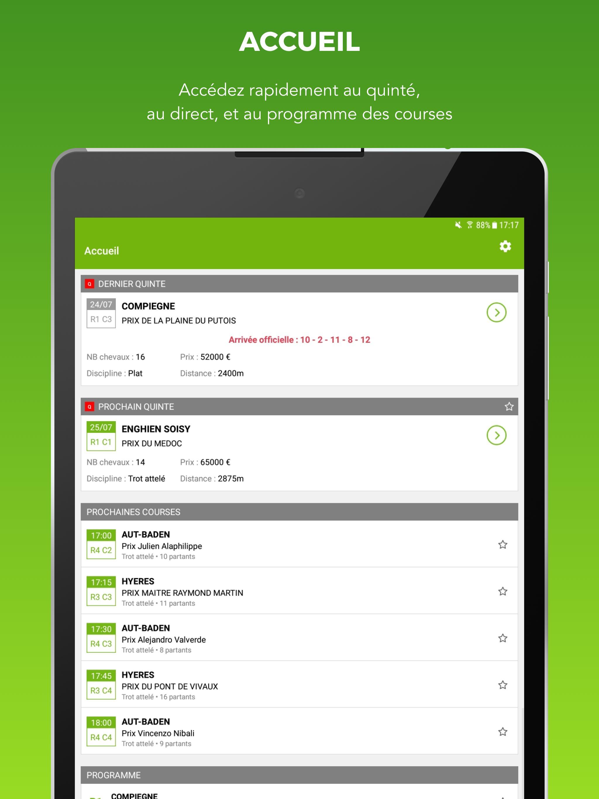Turf résultats des courses for Android - APK Download