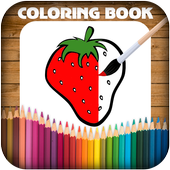 Fruits Vegetables Coloring Book Game icon